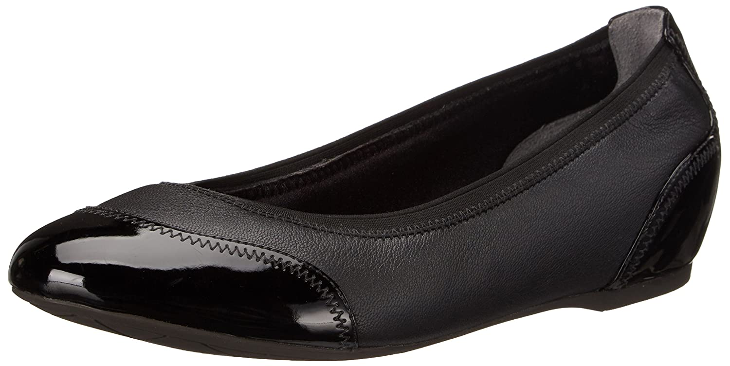 Rockport Women's Ballet Total Motion Crescent Ballet Ballet Women's Flat B00MBDHBF6 8 B(M) US|Black Pearlized/Patent 2305ef