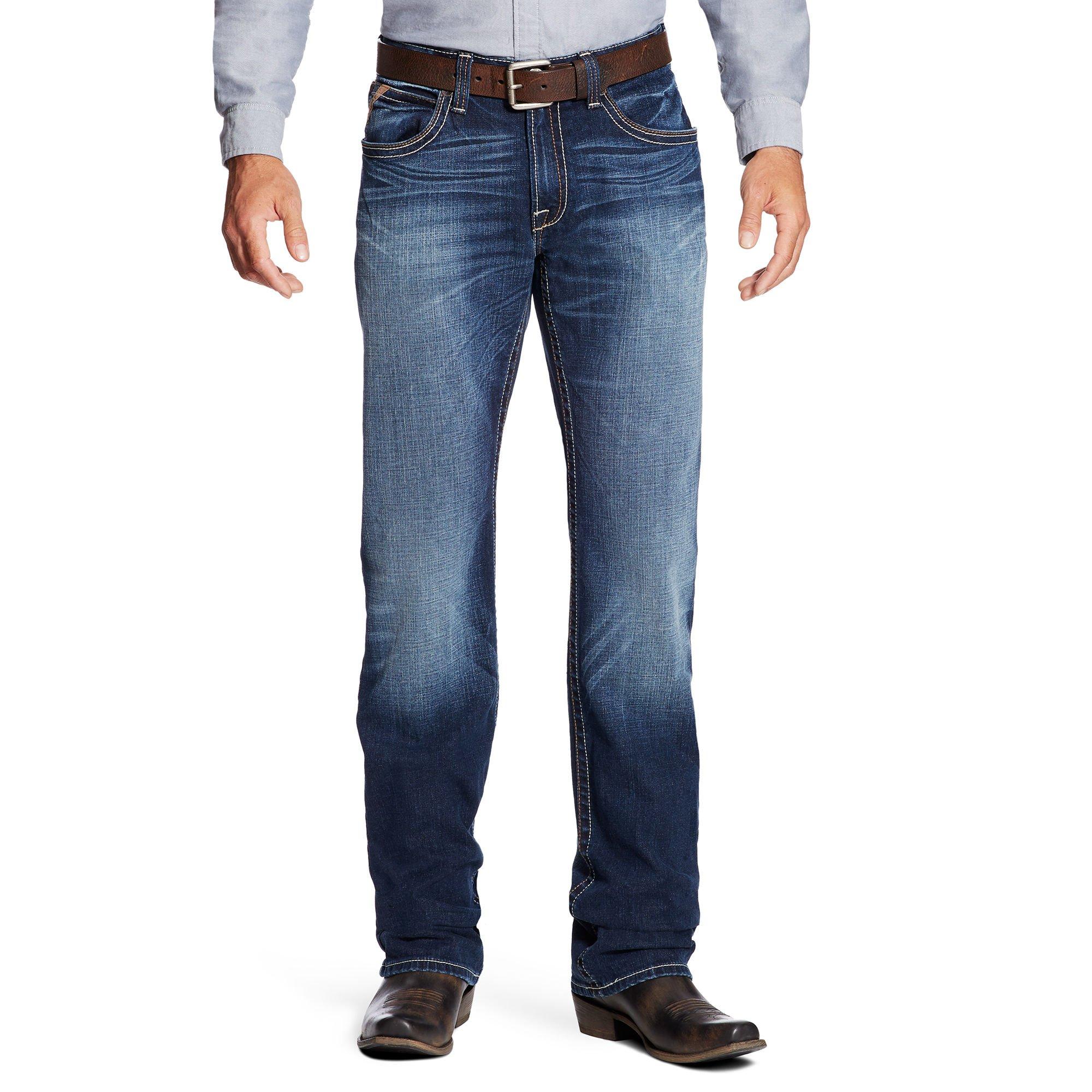 Ariat Men's M4 Low Rise Boot Cut Jean, Cadet, 31W x 38L