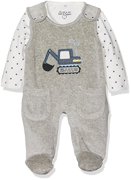 Salt and Pepper NB Playsuit Fun Time Nicki, Pelele Unisex bebé, Gris (Grey Melange 203), 56 cm: Amazon.es: Ropa y accesorios