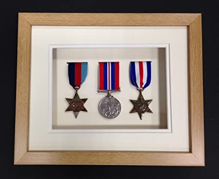 Picture Framing Direct Oak Colour 3d Deep Box Frame To Display War ...
