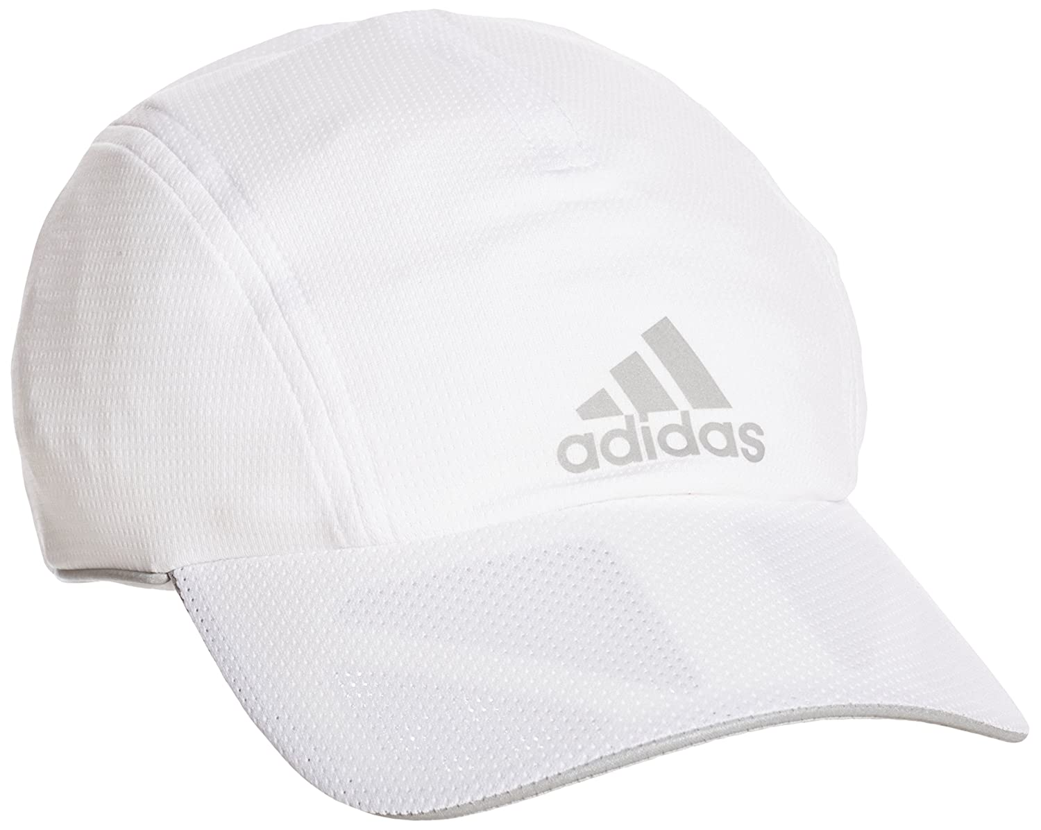 adidas Run No Fly Cap - Gorra unisex, color blanco/negro, talla OSFM