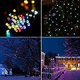 Guirlande Lumineuse Solaire 10M,Aglaia 100 LED Guirlande Solaire Extérieur Multicolore avec 7 Modes d'Eclairage, Etanche pour Noël Mariage Décoration Jardin Maison
