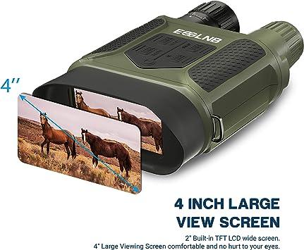 enregistrement dimages et vid/éo IR jour//nuit /écran LCD de 64 Go de 2,7 po WILDGAMEPLUS Jumelles de vision nocturne port/ée de 984 pieds t/élescopes dext/érieur portables infrarouges HD 1080p