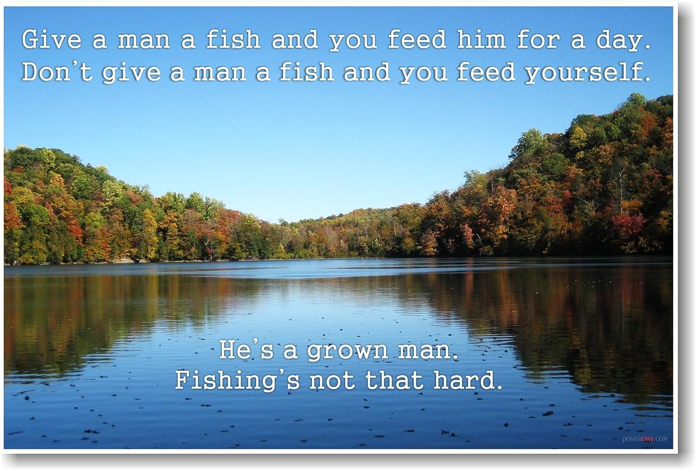 Dale a un hombre un pescado – Ron Swanson Cita – New graciosos Cita Póster