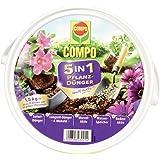 COMPO 5in1 Pflanz-Dünger und mehr für alle Zimmer-, Balkon- und Gartenpflanzen, 6 Monate Langzeitwirkung, 1,5 kg