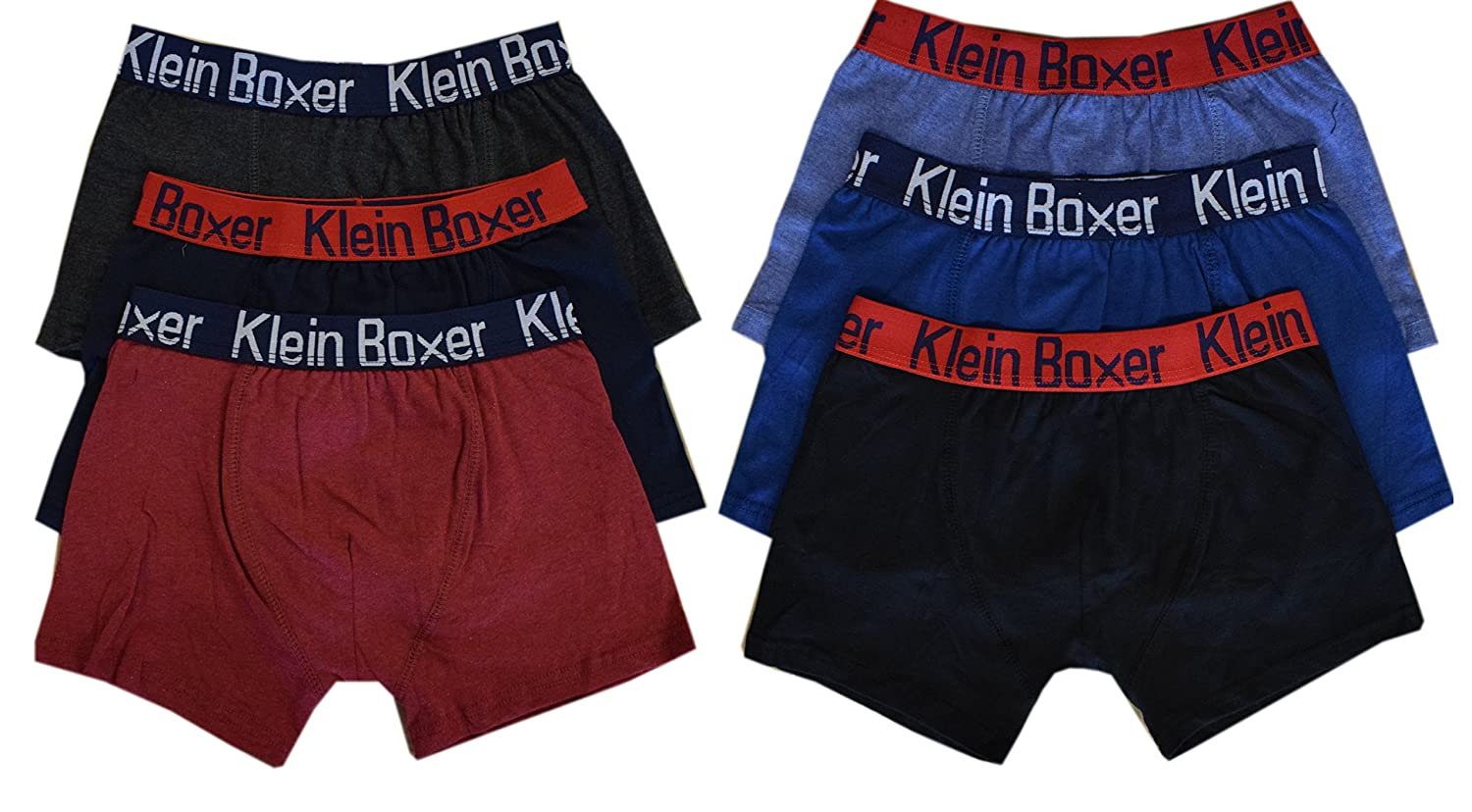 6 Or 12 Pairs Boys Boxer Shorts Cotton Rich Designer Trunk Boxers Underwear 5-13