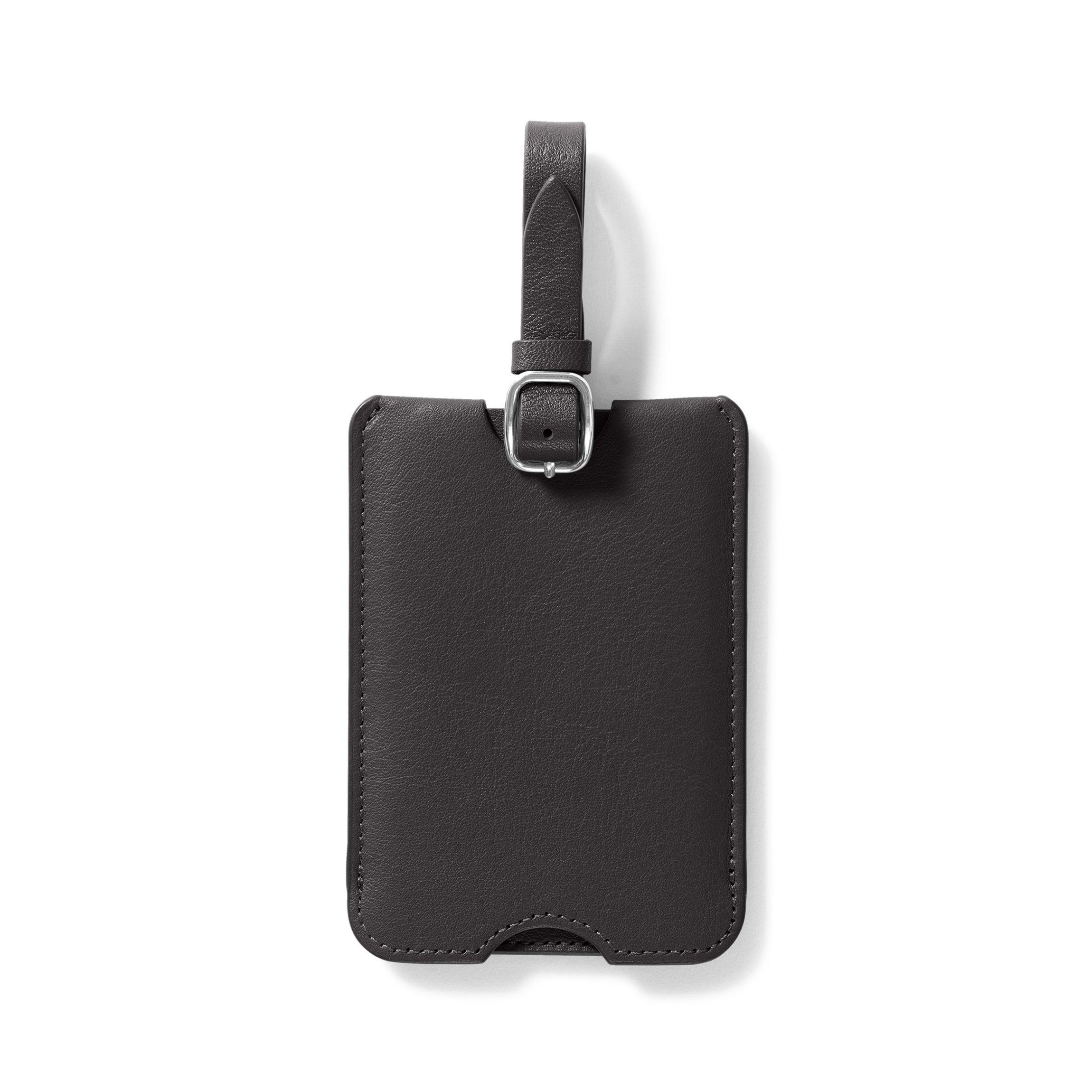 Leatherology Black Onyx Deluxe Luggage Tag by Leatherology