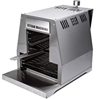 Steak Machine Activa Beefer Edelstahl XXL silber Steakerhitzer 800 Grad Balkon ✔ eckig ✔ Grillen mit Gas Oberhitze ✔ für den Tisch