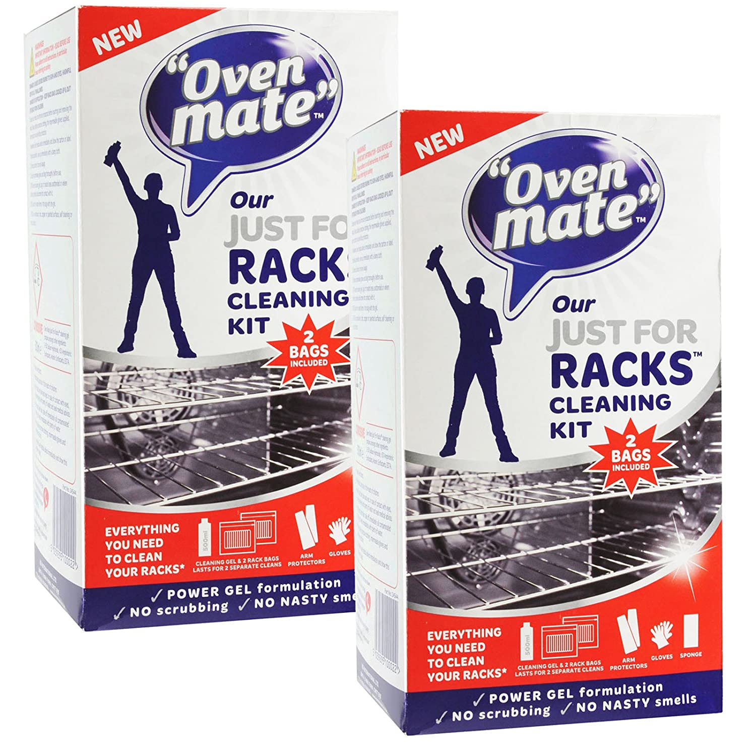 Oven Mate Just For Racks Cleaning Gel Kit For Oven Shelves & BBQ Grills (Pack of 2)