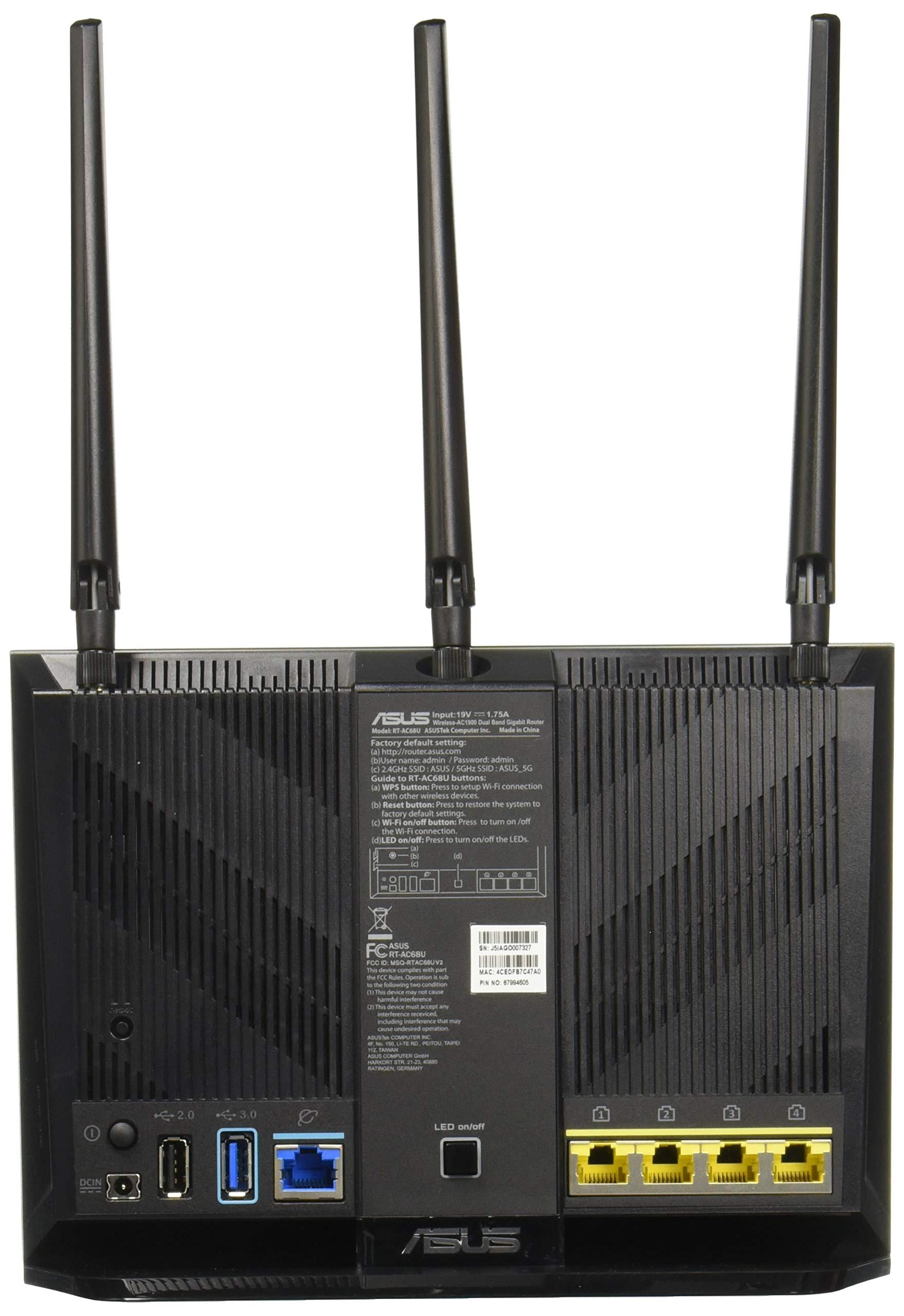 ASUS RT-AC68U AiMesh (2 pack) AC1900 Whole Home Dual-band AiMesh