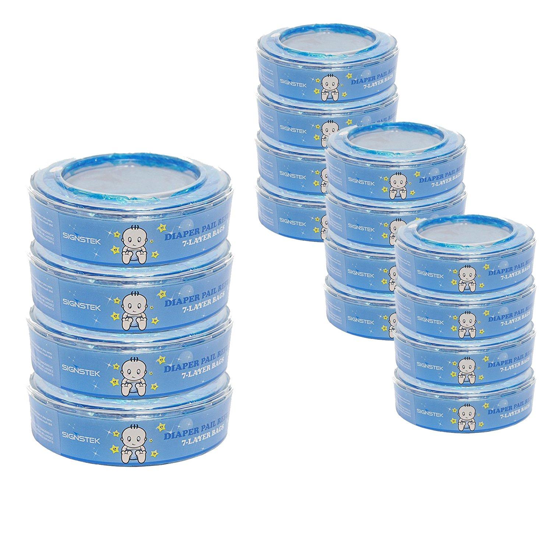Signstek - Pañales para pañales Angelcare Para depósito de pañales Angelcare azul Pack of 16: Amazon.es: Bebé
