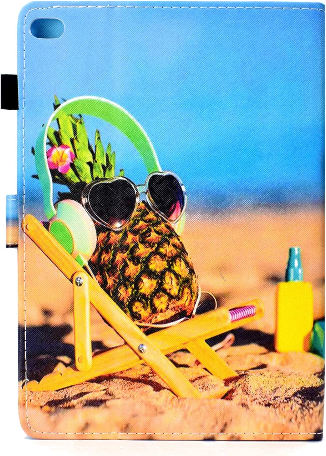 iPad Air 1,MOIKY Premium PU Case with Stylus Holder Magnetic Smart Wallet Cover,Beach Pineapple Case for New iPad 9.7 2018//2017 6th//5th Gen ,Slim Leather Stand Tablet Protective Case for iPad Air 2