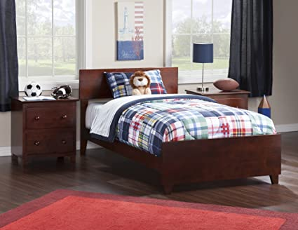 Atlantic Furniture Orlando Bed with Matching Foot Board, Twin XL, Antique  Walnut - Amazon.com: Atlantic Furniture Orlando Bed With Matching Foot Board
