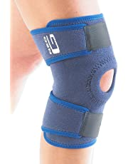 Neo G Knee Support - For Arthritis, Join Pain Relieve, Meniscus Pain, Recovery, Gym, Sports, Basketball, Running, Skiing - Adjustable Compression - Class 1 Medical Device - One Size - Blue