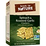 Back to Nature Non-GMO Crackers, Spinach & Roasted Garlic, 6.5 Ounce