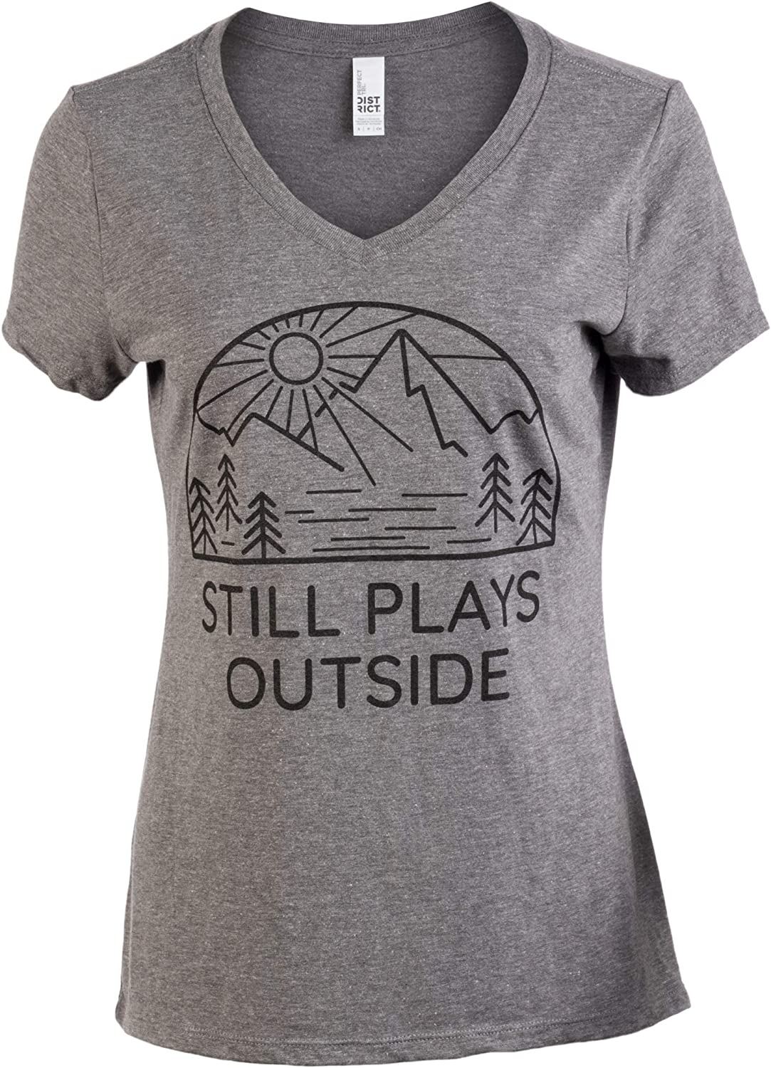 Still Plays Outside | Funny Cool Camping Hiking Camp Hike Women Outdoors Shirt Top