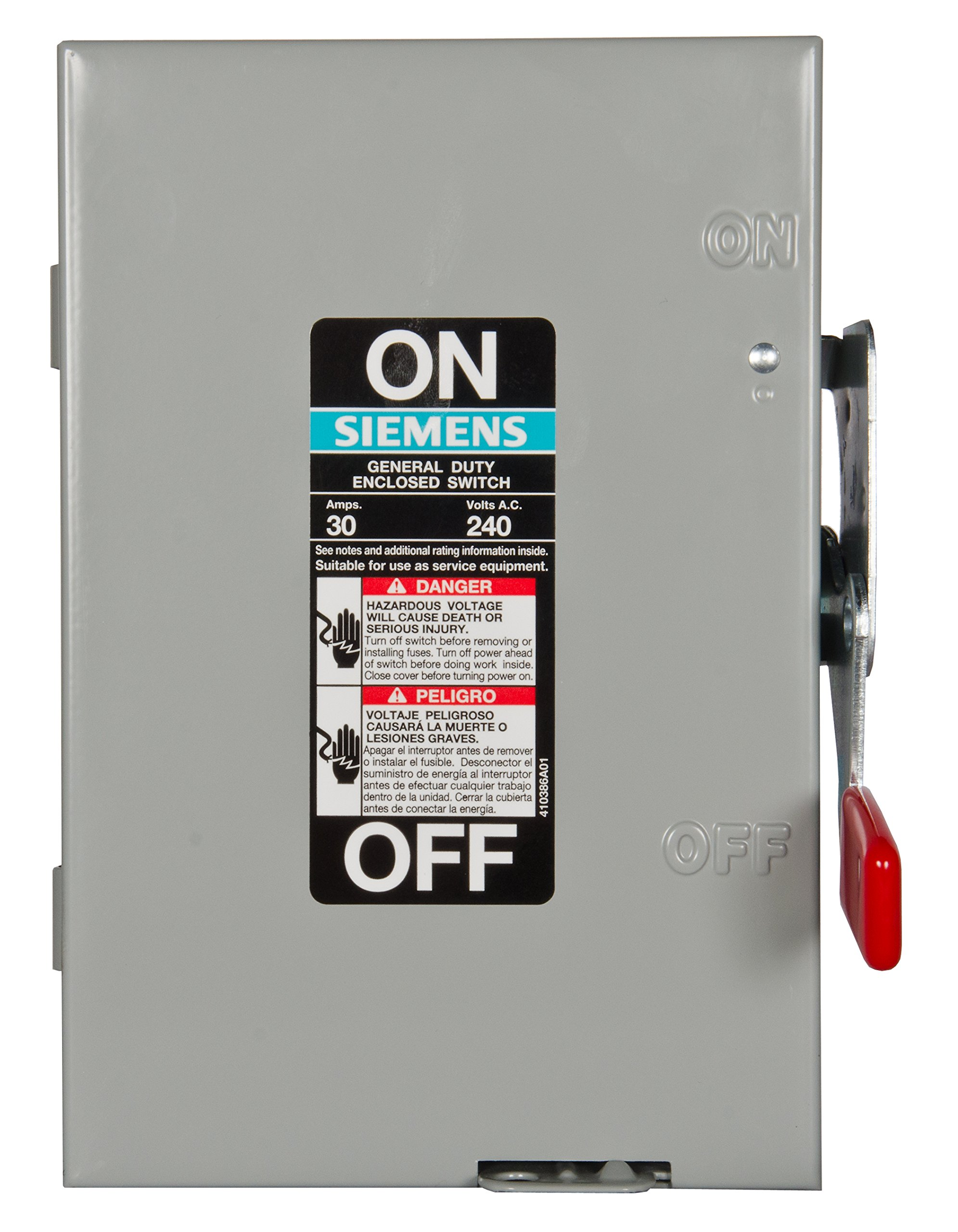 Siemens GF221N 30-Amp 2 Pole 240-volt Fused General Duty Safety Switches by Siemens