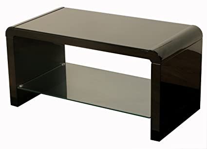 Cool Atlanta Black Coffee Table With Glass Shelf Coffee Table Black Black Gloss Coffee Table Living Room Furniture Andrewgaddart Wooden Chair Designs For Living Room Andrewgaddartcom