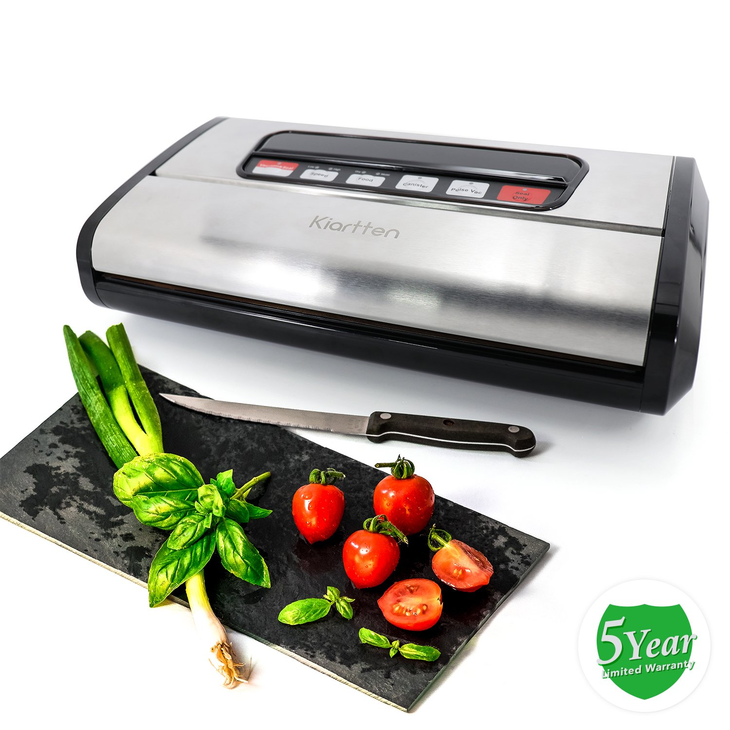 Kiartten Vacuum Sealer, A Fresh Food Locker for Your Kitchen. Keeps Food Fresh Up To 5X Longer. (Stainless Steel) by Spreaze (Image #6)