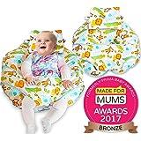 Único 4en 1Premium algodón enfermería almohada con Free Mini almohada y bebé arnés blanco blanco