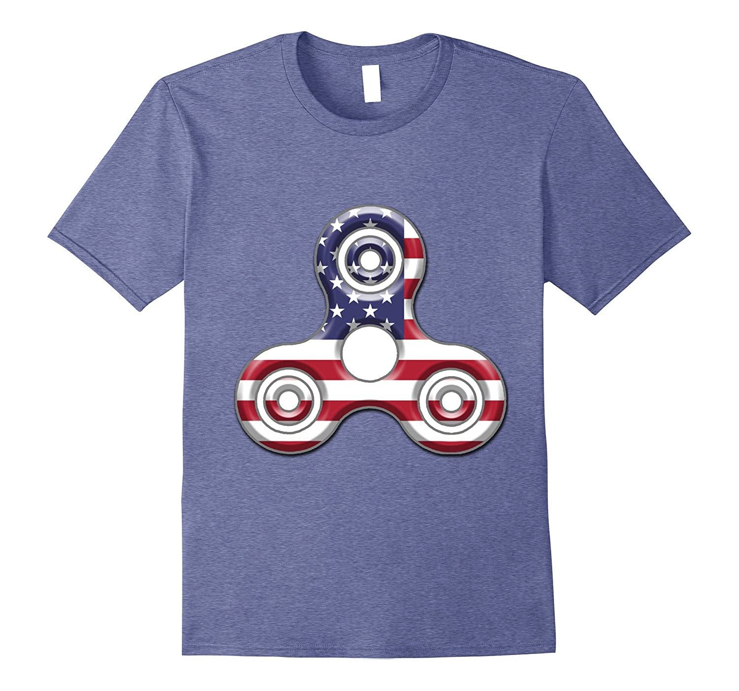4th of July American USA Flag Patriotic Spinner T-Shirt-PL