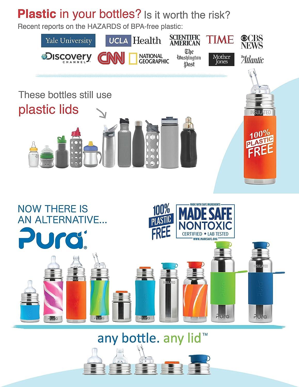 Pura Kiki Bundle Straw Plastic Free, NonToxic Certified, BPA Free