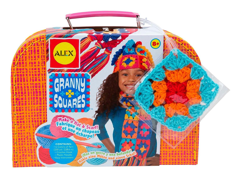 ALEX Toys Craft Granny Squares Crochet Kit 83W