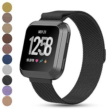 iFeeker Fitbit Versa - Correa de repuesto para reloj inteligente Fitbit Versa, cierre magnético,