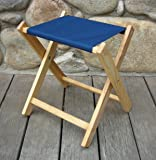 Amazon Com Teak Framed Folding Camp Stool With Khaki