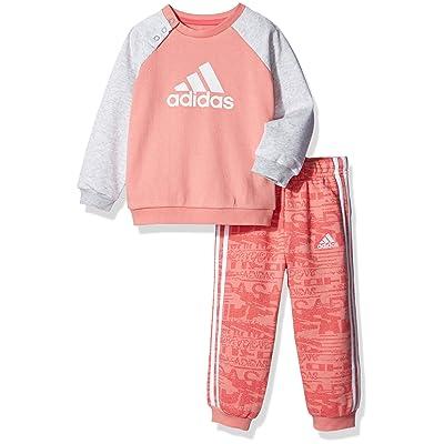 adidas Girl Toddler Athletics Jogger Set Sweatshirt Pant French Terry
