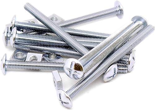 M6 (6 mm x 80 mm) cabeza tornillos y tuercas – acero (Pack de 10 ...