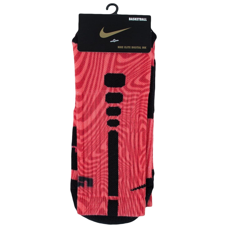 abdf0f356a7 Amazon.com   Nike Elite LeBron James Basketball Crew Socks-Red Black-Large    Sports   Outdoors