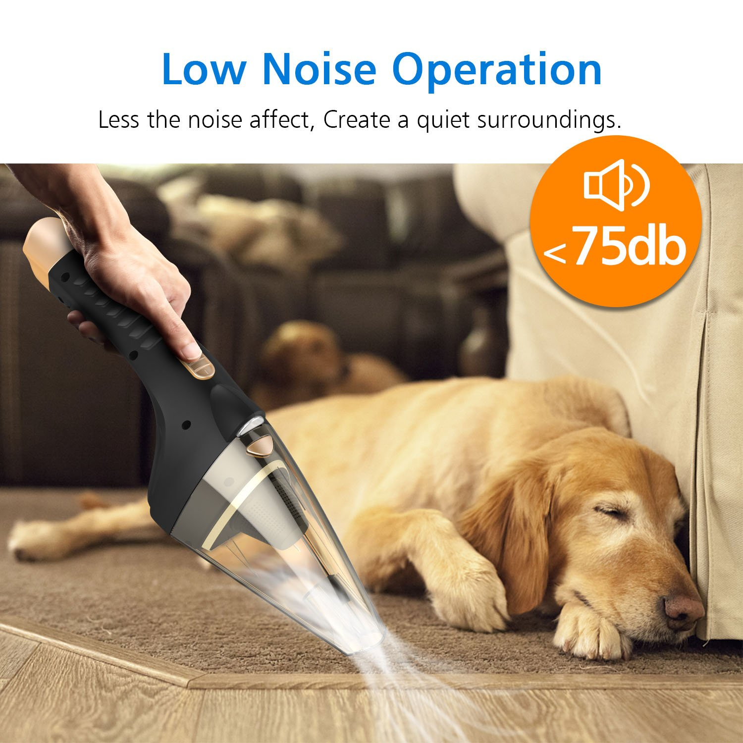 Hard Hose SONRU Car Vacuum Cleaner Brush Carry Bag SR11 Soft Tube DC 12V 106W Wet//Dry 4.0KPA Suction Powerful Handheld Vacuum Cleaner with 2 HEPA Filters LED Light
