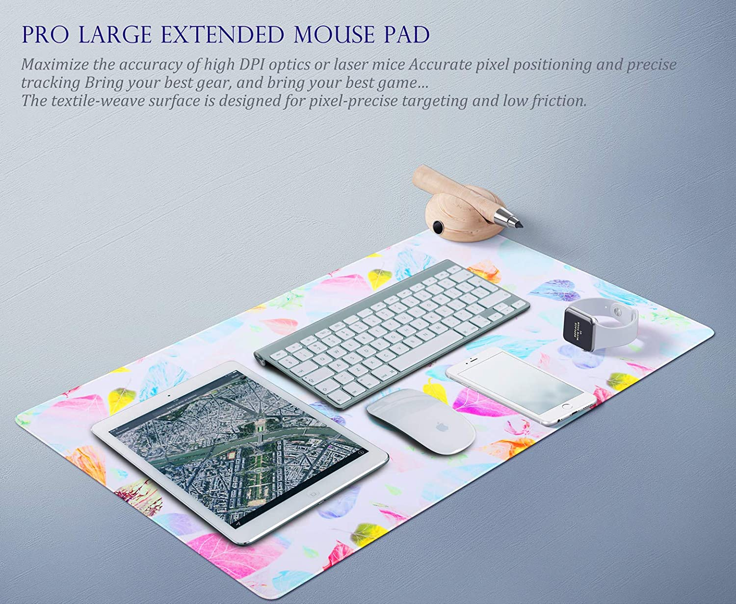 GDBT OS001 31.5/× 15.75/× 0.12 Gaming Mouse Pad Large Extended Mouse Pad Keyboard pad Laptop Mat Computer Game Mouse MatSensitivity Resistant Anti Slip Rubber Precise Stitched Edges Large Desk Mat