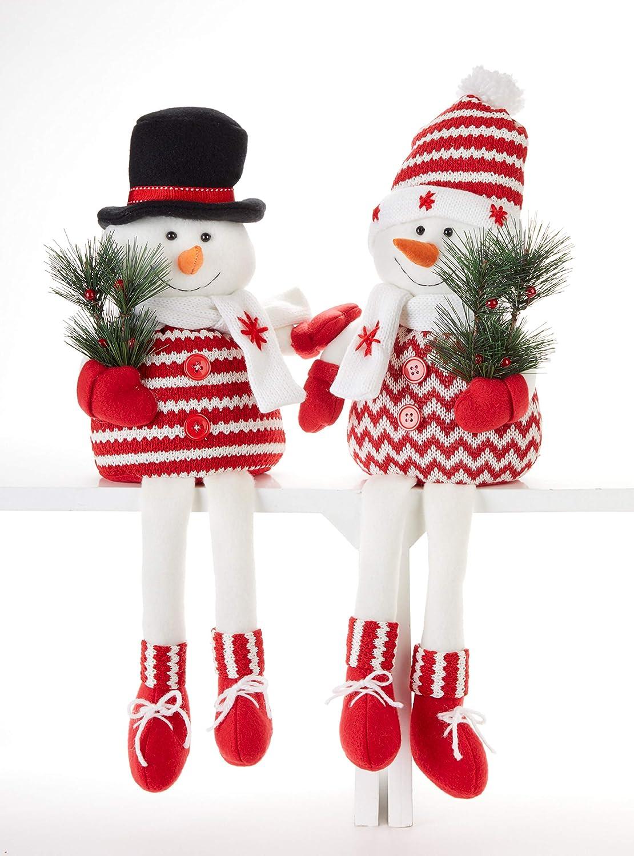 Snow Cardinal Festive Red 6 x 4 Resin Stone Christmas Figurines Set of 3 Inc Transpac Imports