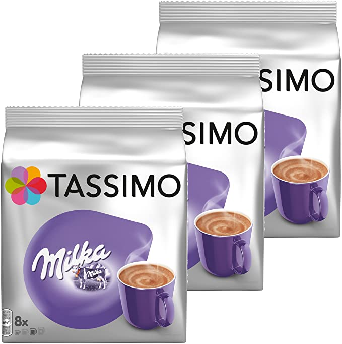 Tassimo Milka Hot Chocolate Pack Of 3 3 X 8 T Discs 24 Servings