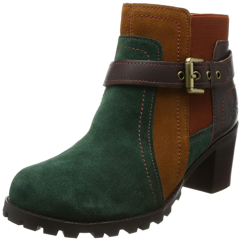 [ヨースケ] ブーツ ベルティッドレザーショートブーツ 1000046 B072QFSCSS 24.5 cm グリーンコンビ グリーンコンビ 24.5 cm