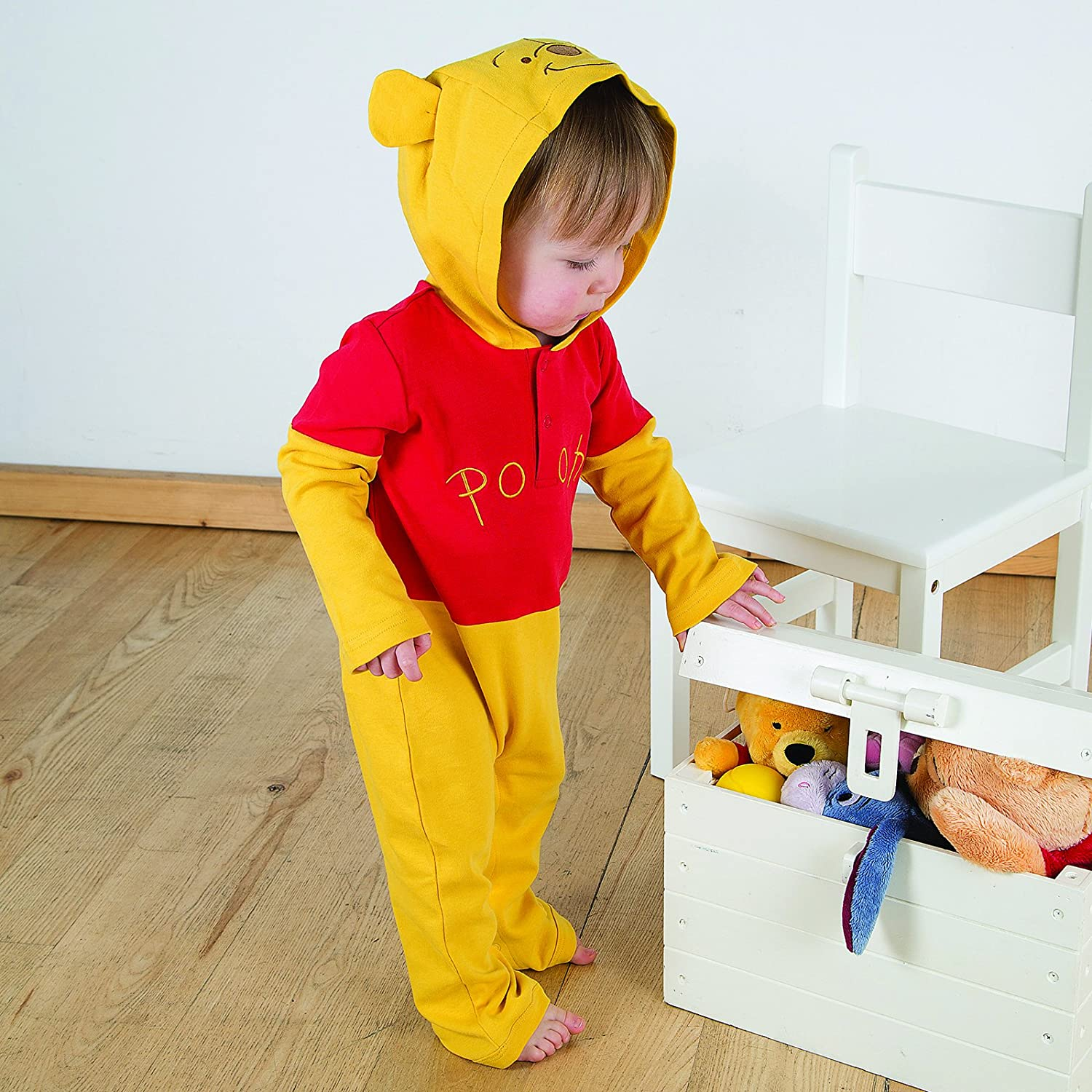 Disney Winnie the Pooh Jersey Romper with Hood Age 0-3 Months