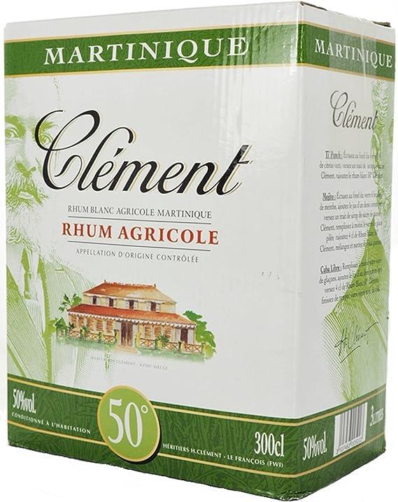 CLEMENT RON BLANCO 50% BOX 3 LITROS: Amazon.es ...