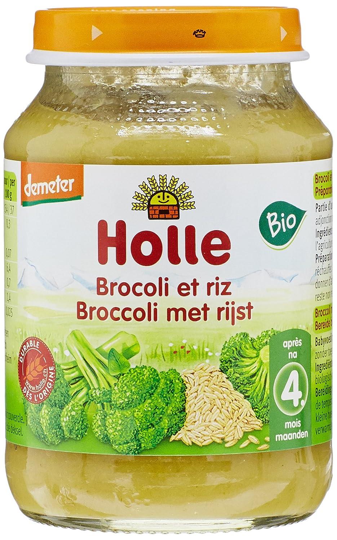 Holle Petit Pot Brocolis avec Riz Complet 190 g Lot de 3 7640104955436