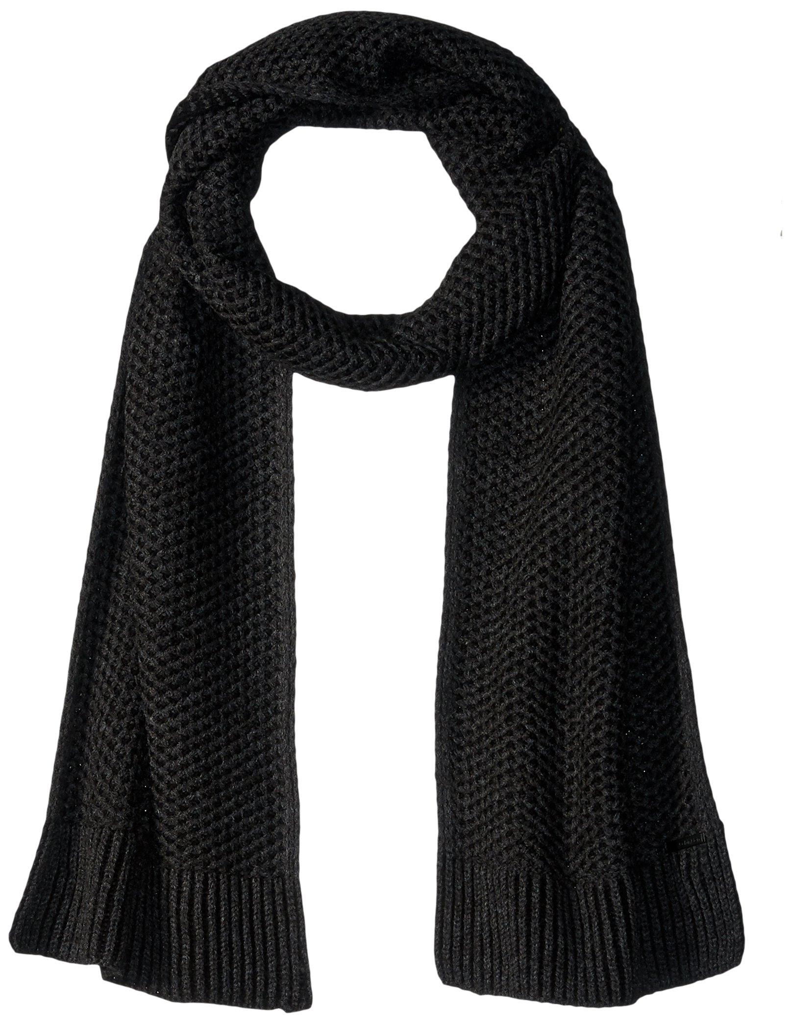 Calvin Klein Men's Solid Scarf, Mercury, One Size