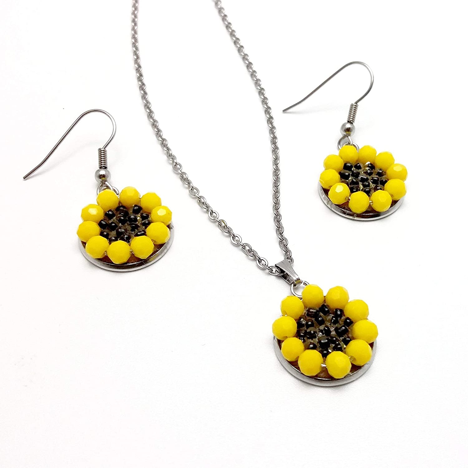 Stand Out Designs Jewelry : Amazon sunflower jewelry sets stainless steel jewelry sets
