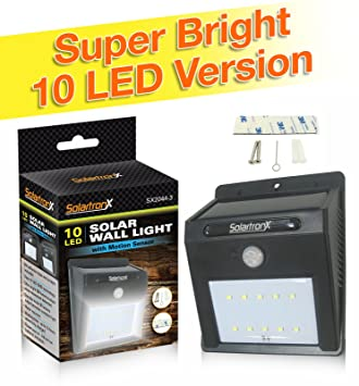 Amazon 10 led motion sensor solar light dusk to dawn 10 led motion sensor solar light dusk to dawn security lighting for outdoors ideal aloadofball Images