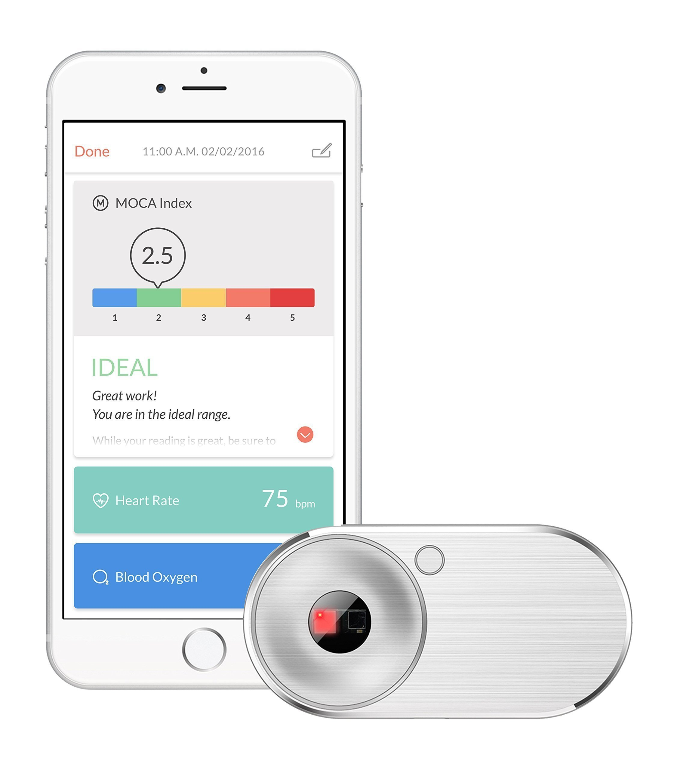MOCAheart - Personal Heart Health Tracker (Heart Rate, Blood Oxygen, Blood Velocity) for iOS and Android