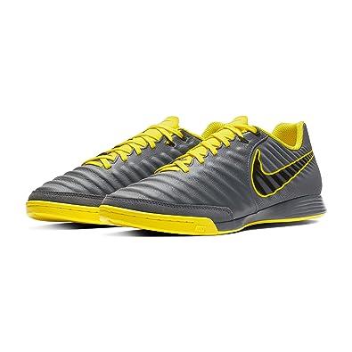 fd9d7bfba Nike Men's LegendX 7 Academy IC Indoor Soccer Shoes-Dark Grey/Opti Yellow/