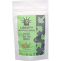 Liberty International Organic Herbal Aloe Vera Powder For Smooth Hairs & Soft Skin Skin & Hair Care (114G) Certified NT2942