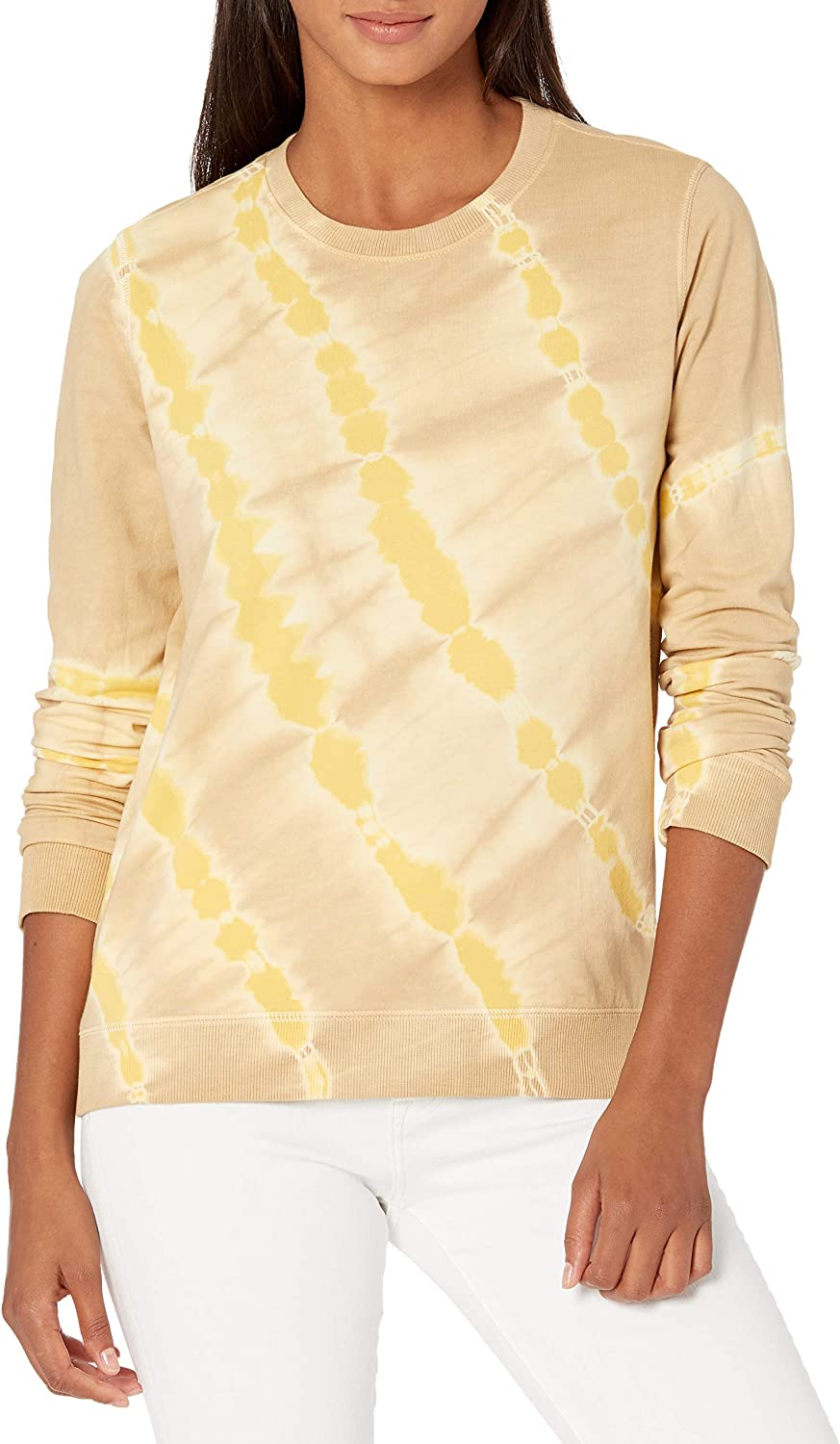 Lucky Wholesale Free Shipping Cheap Bargain Gift Brand Women's Long Sleeve Crew Tie Sweat Neck Dye Pullover