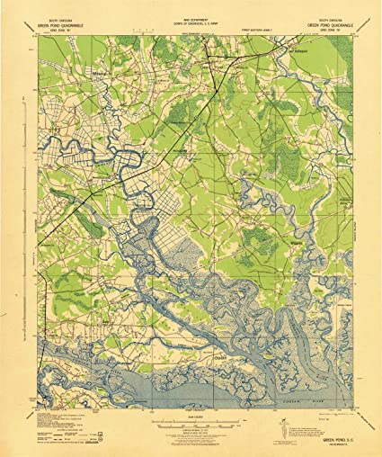 Amazon.com: YellowMaps Green Pond SC topo map, 1:62500 Scale ...