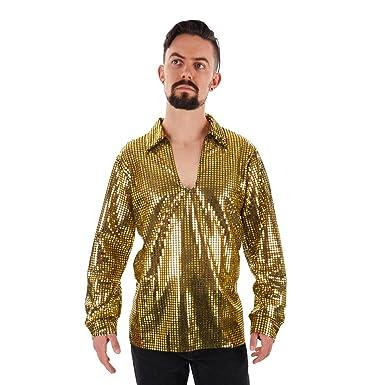 7db6ecf679bb33 Amazon.com: Largemouth Men's Sequin Disco Shirt: Clothing