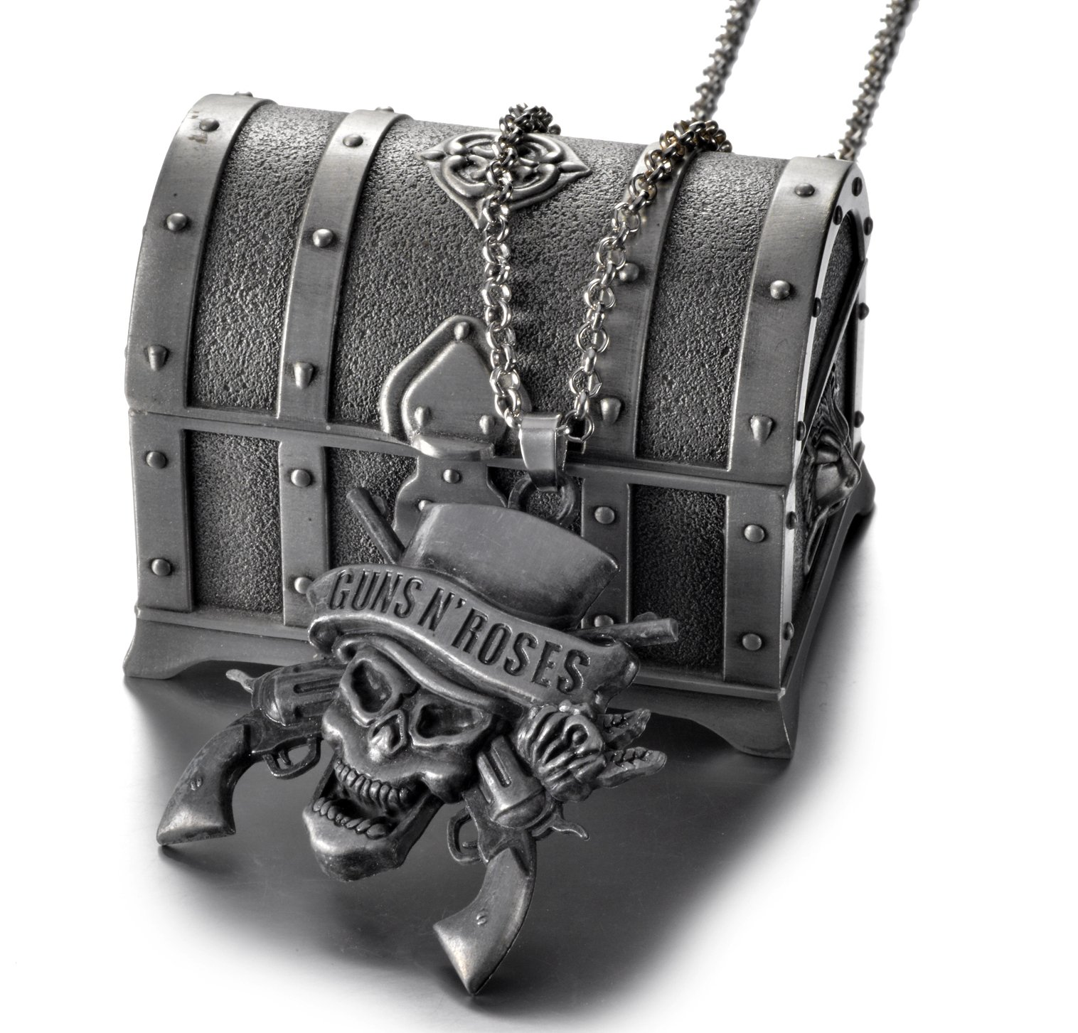 REINDEAR American Hard Rock Band Guns N' Roses Logo Metal Necklace US Seller (Necklace w/ Jewelry Box)